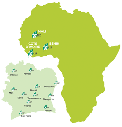 Logo A2P groupe in Africa